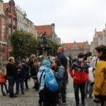 uczestniczki projektu Sianowski klub Integracji Społecznej podczas wyjazdu do Gdańska ul. Długi Targ