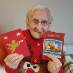 Seniorka p. Helenka i kartki świąteczne w jej wykonaniu
