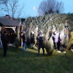 obdarowani świerkowymi drzewkami