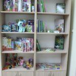 szafka z książkami i zabawkami