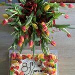 tort i kwiaty dla Pań