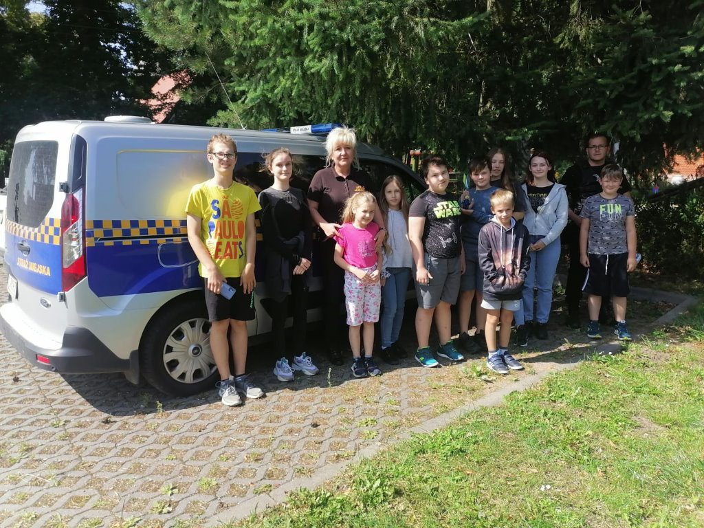 Spotkanie z funkcjonariuszami Straży Miejskiej w PWD Karnieszewice 13